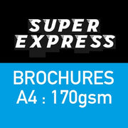A4 170gsm Brochure Printing - Super Express 48hr Despatch