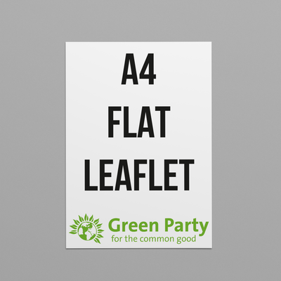 Green Party Flat Leaflets - A4 Size