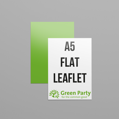 Green Party Flat Leaflets - A5 Size