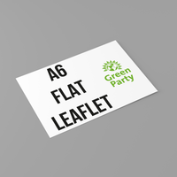 Green Party Flat Leaflets - A6 Size