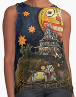 Halloween Land Sleeveless Top
