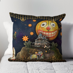 "Trick or Tarot ""Halloween Land"" Throw Pillow"