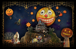 HALLOWEEN LAND Wall Poster in 3 sizes