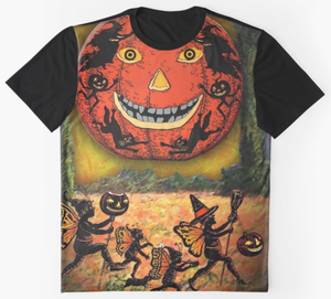 "Trick or Tarot ""Halloween Family"" Graphic T"