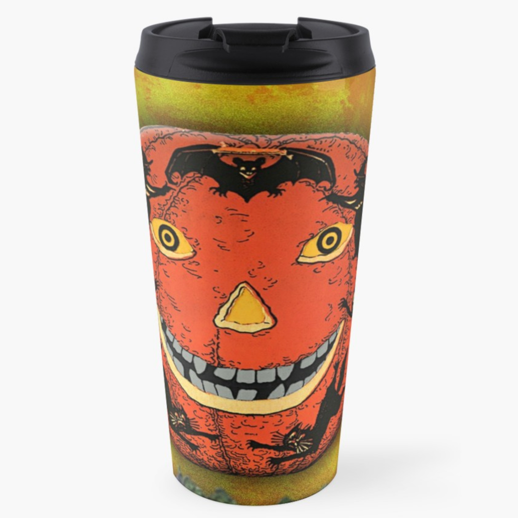 Spooky Halloween Pumpkin Travel Mug