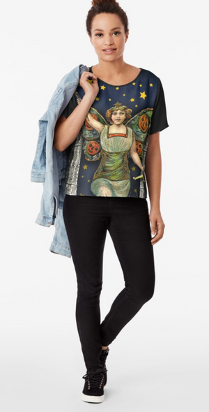 "Trick or Tarot ""Halloween Angel"" Chiffon Top"