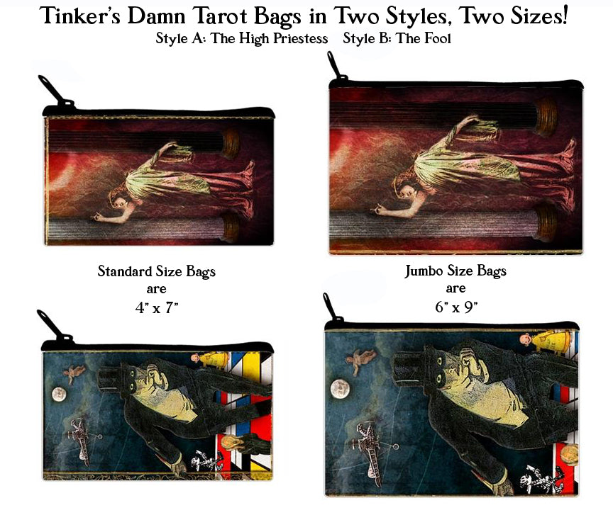 TINKER'S DAMN Tarot Bags in Two Styles and Sizes