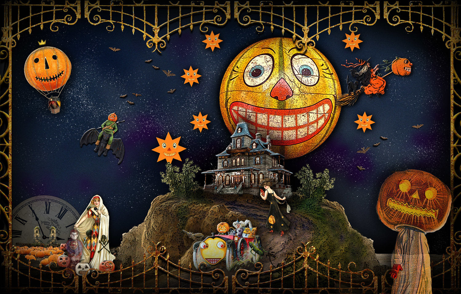 "HALLOWEEN LAND ""Trick Or Tarot"" Reading Mat"