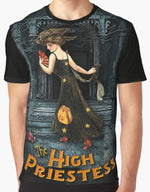 "Trick or Tarot ""High Priestess"" Graphic T"
