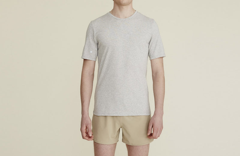 Thales Tee in Light Gray Marl - rezlo-co