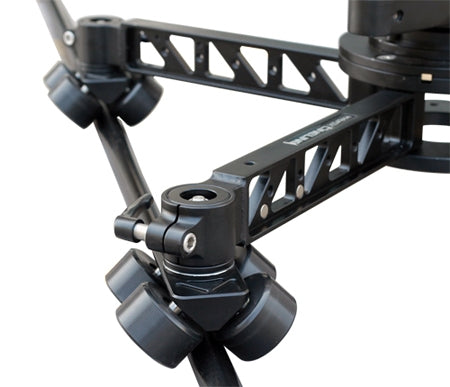 Camera Crane dolly track system with levelling feet