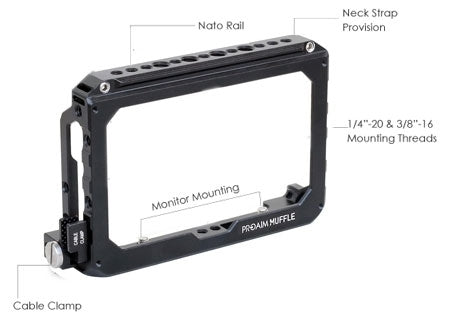 field monitor cage 7inch for blackmagic monitor