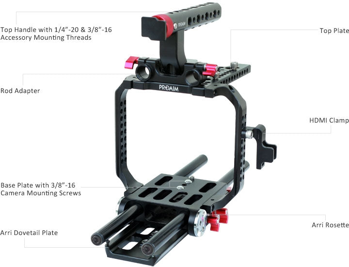 Cage for Sony F5/F55 Cameras
