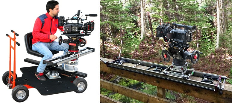 onlocation use of Orion gear head with slider
