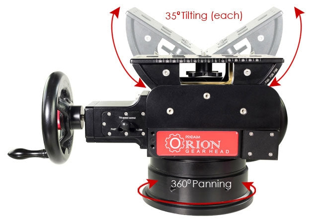 Proaim Orion gearhead with mitchell & 100m bowl mount