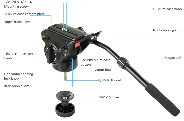 fluid head tripod for video