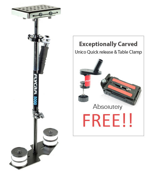 Flycam 5000 Video Stabilizer with Quick Release Plate