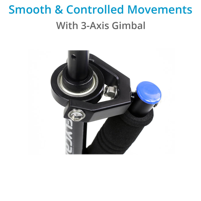FLYCAM DSLR Nano Blue Steady Cam Stabilizer with Arm Brace