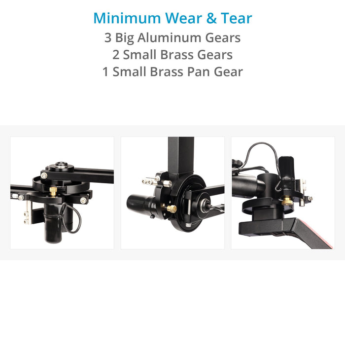 PROAIM Spin-3 (3-Axis) Motorized Dutch Roll Pan Tilt Head