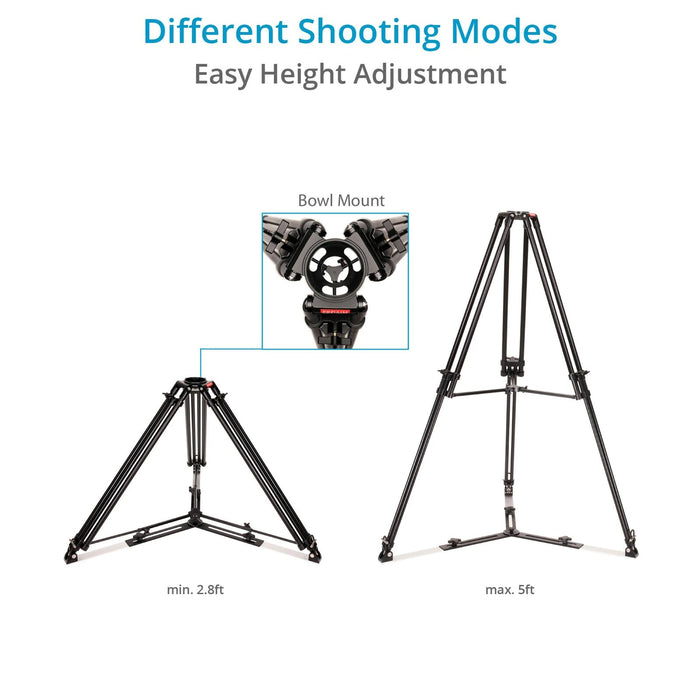 Proaim 100mm Camera Tripod Stand with Aluminum Spreader
