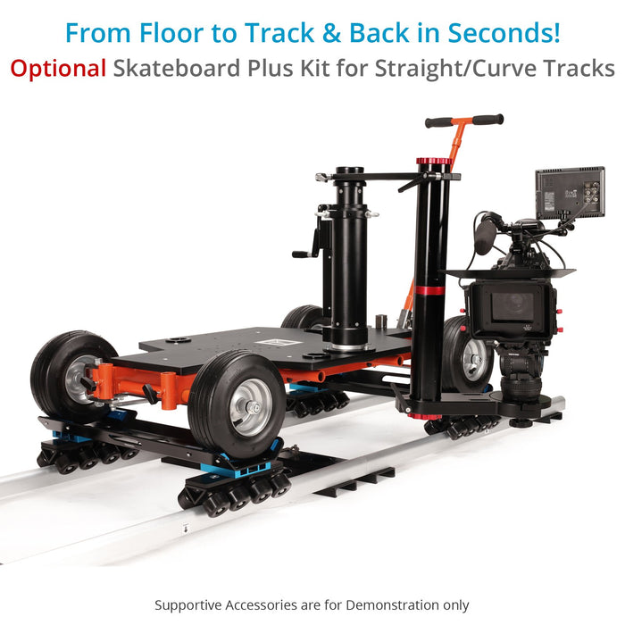 Proaim Quad-4 Pro Film Camera Doorway Dolly | All-Wheel Steering