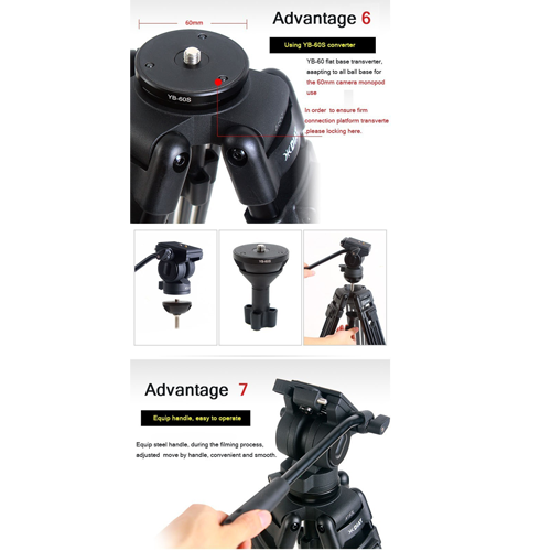 "Diat 67"" Pro Video Camera Tripod With Fluid Head"