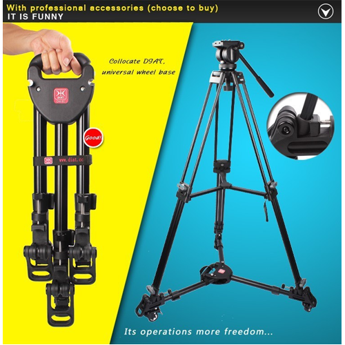 "Diat 71"" Professional Heavy Duty Video Tripod with Fluid Drag Head"