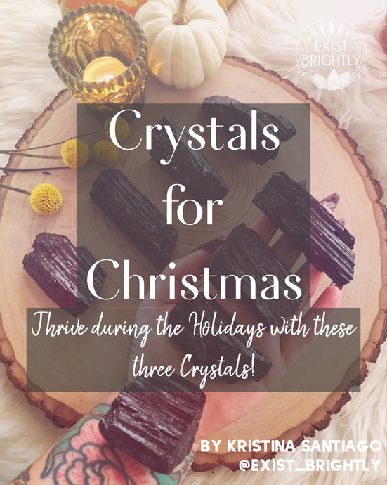 Crystals For Christmas- Three Pieces to Support Your Self Care During the Holidays.