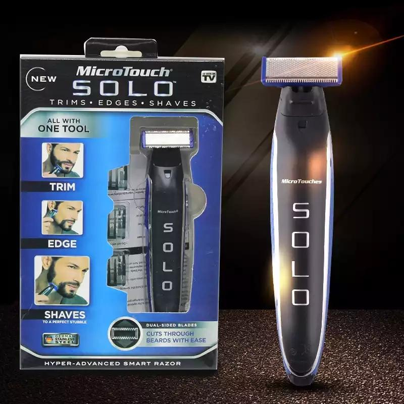 MicroTouch Solo All-in-One Rechargeable Shaver, Trimmer & Edger (First Time Available In INDIA)