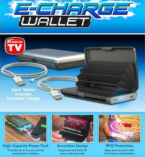 E- Charge Wallet that can charge your Smartphone too! First Time In INDIA  (6000 Mah)