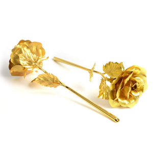 24k Gold-Dipped Rose 10 INCHES With LOVE Frame