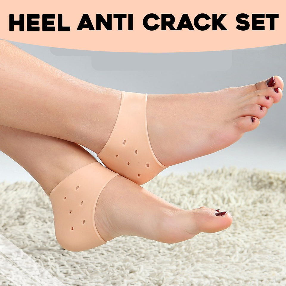Silicone Heel Anti Crack Set 1 Pair