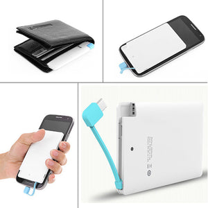 Credit Card Size World Slimmest Powerbank (4000mah) Made In INDIA