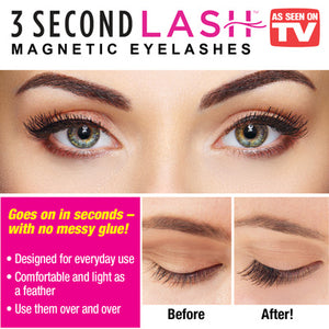 3 SECONDS LASH MAGNETIC EYELASHES (SET OF 2)