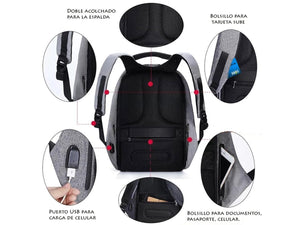 Anti Theft Waterproof Secure Office Bag 15 Laptop Backpack for School College