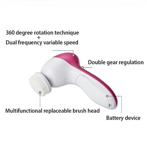 5 in 1 Electric Spin Brush Facial Cleaner Face Liffting Massager Machine