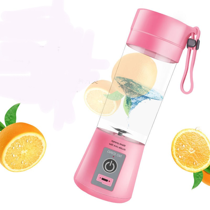 380 ml 4 Blades Mini USB Rechargeable Portable Electric Fruit Juicer