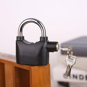 Anti Theft Siren Padlock with Keys