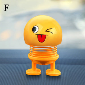 Shaking Head Toys Car Funny Emoji (PACK OF 4)