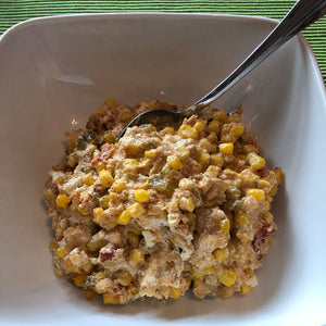 Cheesy Mexican Corn (gluten free/vegetarian)
