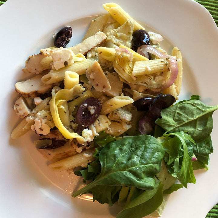Greek Style Chicken & Penne Pasta (Healthy'ish Selection)