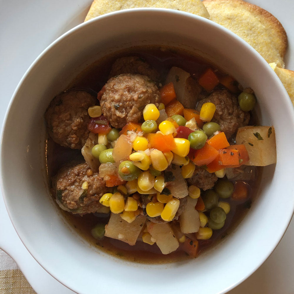 Meatball Stew - Crock Pot Classic