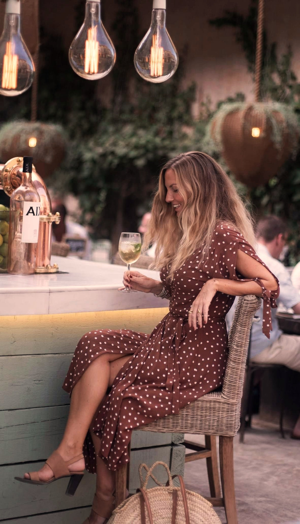 The Altea Dress, Brown Polka