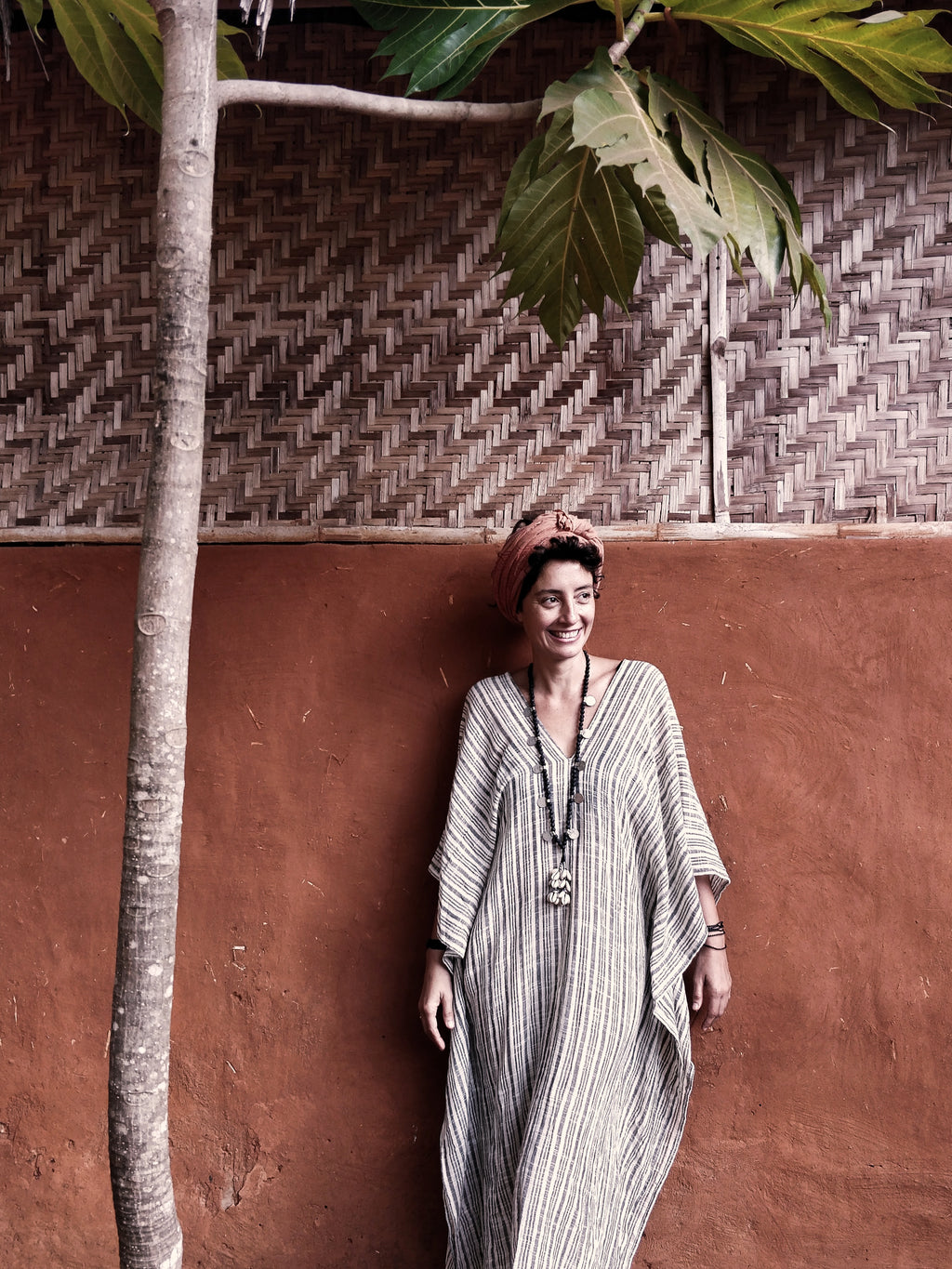 The Ashwem Kaftan, Mediterranean Stripes