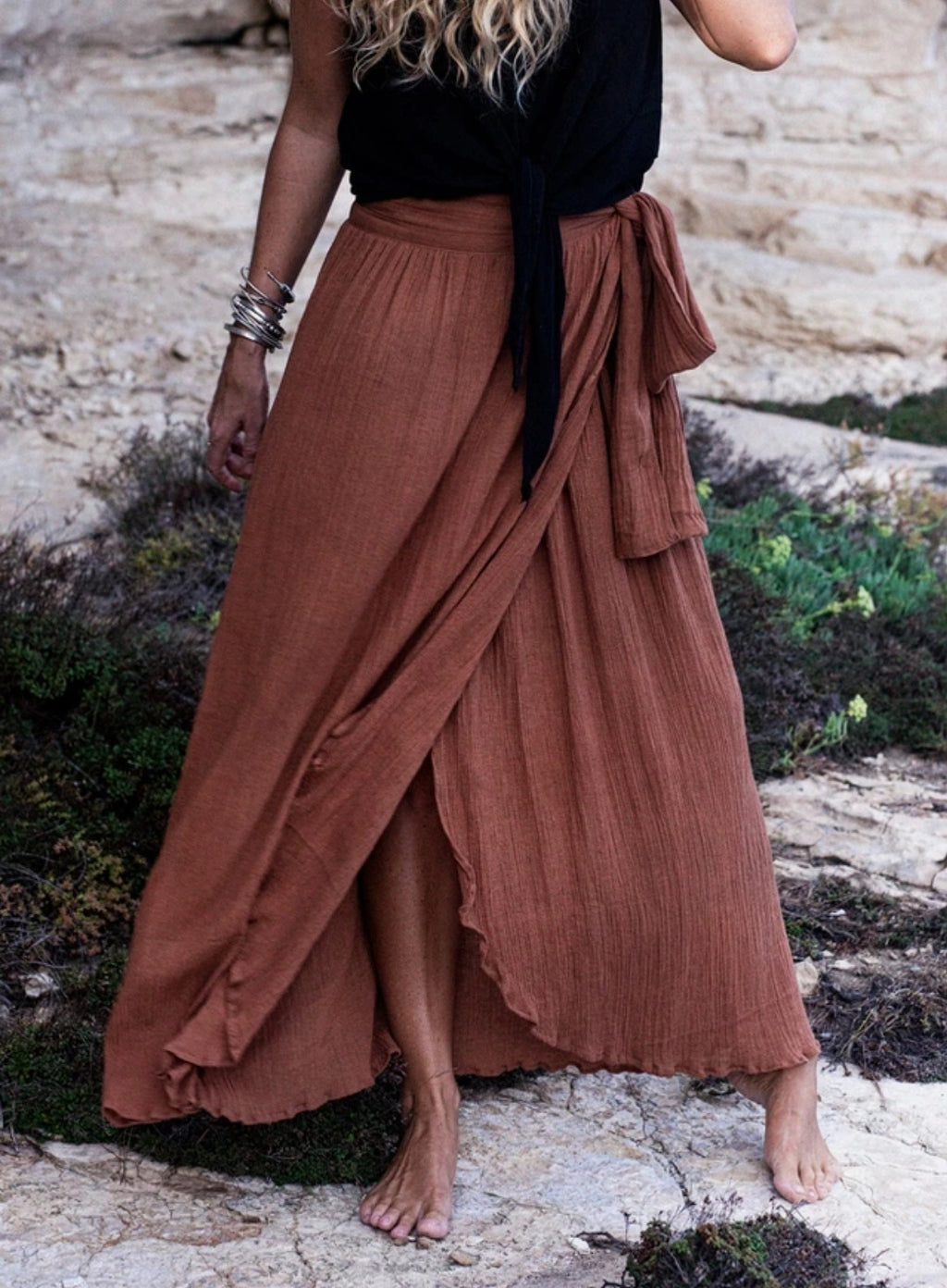The Malibu Skirt, Rust