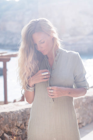 The Jaipur Dress, Sage Green