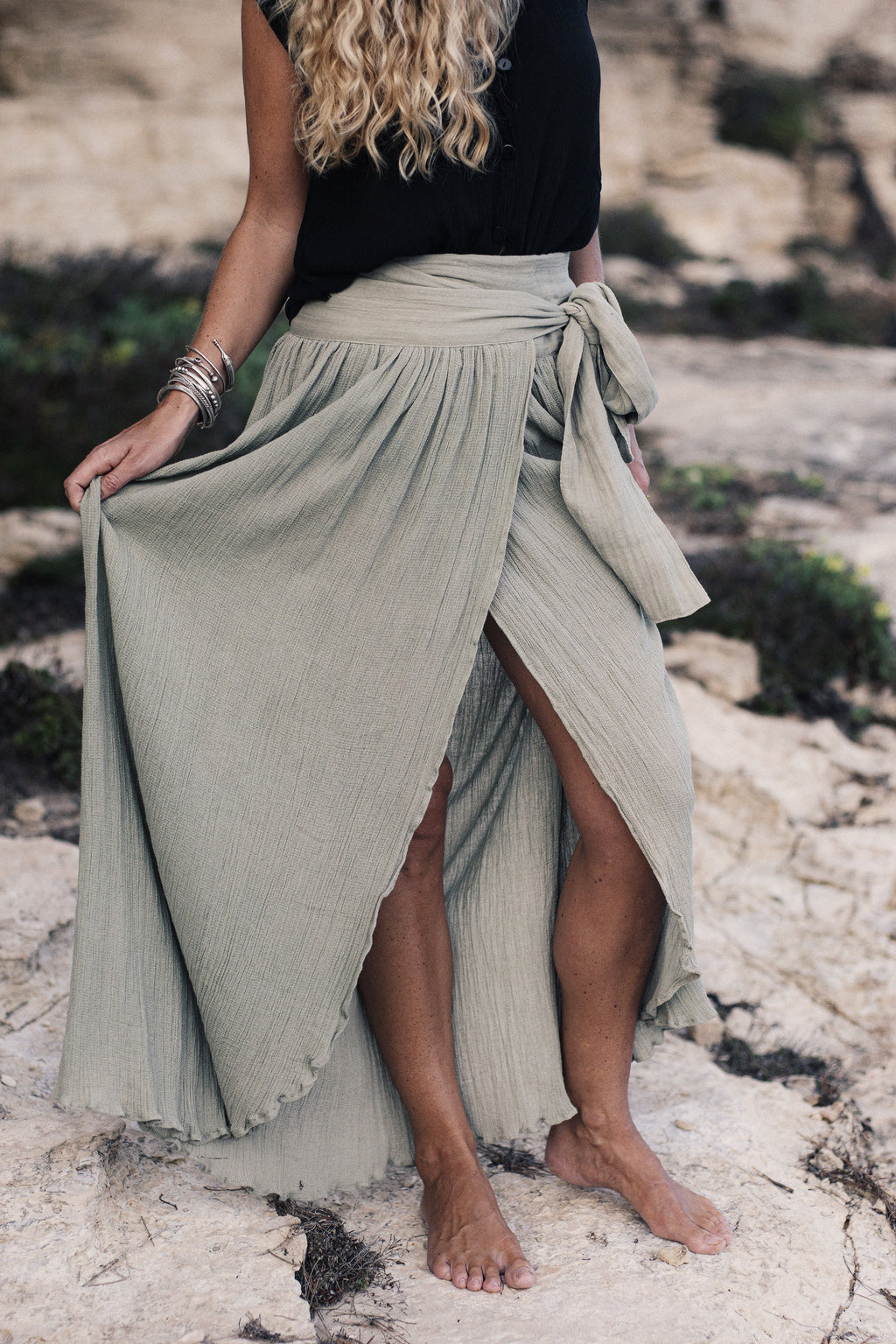 The Malibu Skirt, Sage Green