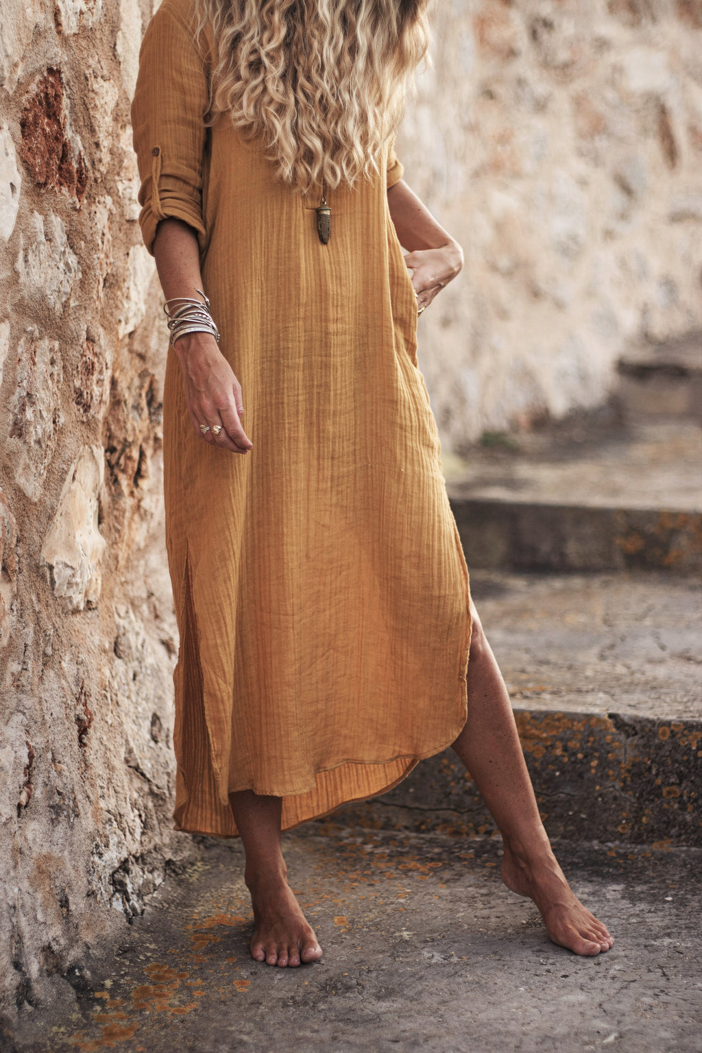 The Jaipur Dress, Sunflower Yellow