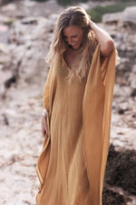 The Ashwem Kaftan, Sunflower Yellow