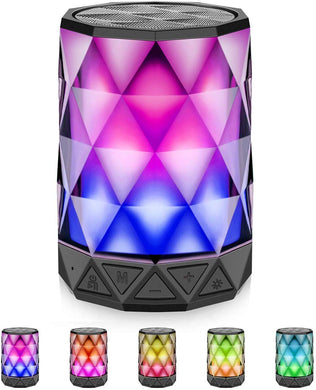 Bluetooth Speakers with Lights Night Portable Wireless Speaker, Multi-Color Auto-Changing LED Themes